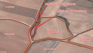 Musigny ミュジニー極小区画の位置関係
