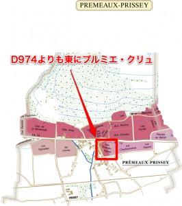 D974よりも東にある唯一のプルミエ・クリュ