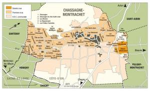 Chassagne-Montrachetの地図