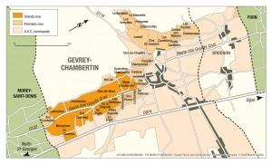 Gevrey-Chambertinの地図