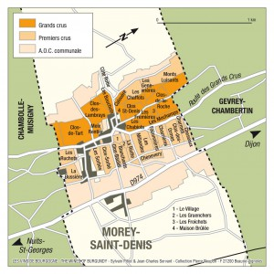 Morey-St-Denisの地図