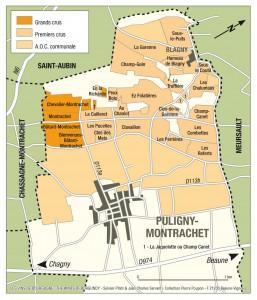 Puligny-Montrachetの地図