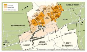 Vosne-Romaneeの地図