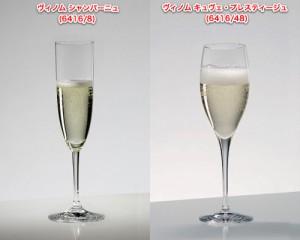 リーデルでのシャンパーニュグラスの例