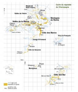 シャンパーニュ地方全域地図
