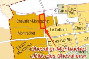 Chevalier-Montrachet Clos des Chevaliersの位置