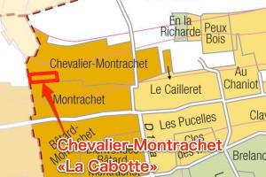 Chevalier-Montrachet La Cabotteの位置