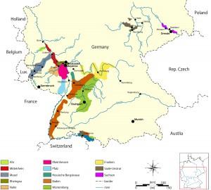 ドイツワイン地図